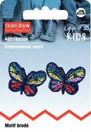 Billigtpyssel.se | Tygmärke Blå fjärilar liten 2 st