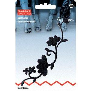 Billigtpyssel.se | Tygmärke Blomstjälk svart