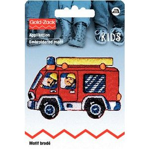 Billigtpyssel.se | Tygmärke Brandbil röd