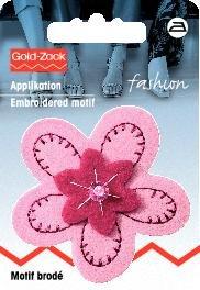 Billigtpyssel.se | Tygmärke Filt Blomma rosa