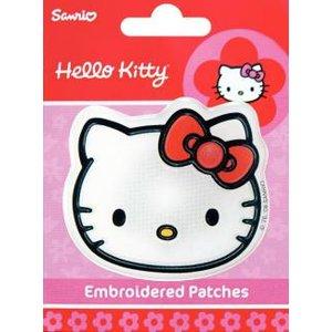 Billigtpyssel.se | Tygmärke Hello Kitty ansikte självhäftande