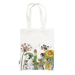 Billigtpyssel.se | Tygpåse Eko Bomull Blomsterparaden - 40 x 28 cm