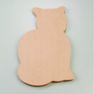 Billigtpyssel.se | Väggskylt 46 x 28 x 2 cm - katt sittande