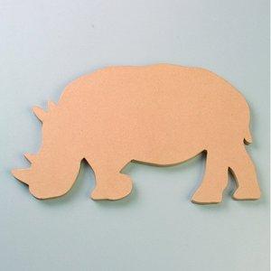 Billigtpyssel.se | Väggskylt 49 x 28 x 2 cm - Noshörning