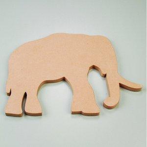 Billigtpyssel.se | Väggskylt 50 x 35 x 2 cm - elefant