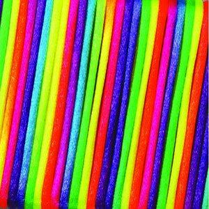 Billigtpyssel.se | Vävtråd satin - regnbågsfärg