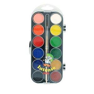 Billigtpyssel.se | Vattenfärglåda Basfärger Sense - 12 färger