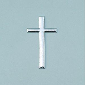 Billigtpyssel.se | Vaxdekoration 22 x 40 mm - silver briljant 1 st. Kors