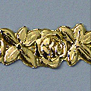 Billigtpyssel.se | Vaxdekoration bård 10 x 200 mm - guld briljant 1 st. Blommor