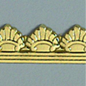 Billigtpyssel.se | Vaxdekoration bård 10 x 200 mm - guld briljant 1 st. klassisk