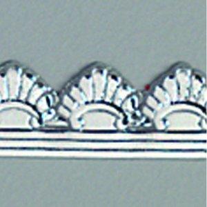 Billigtpyssel.se | Vaxdekoration bård 10 x 200 mm - silver briljant 1 st. classic
