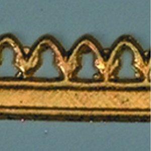 Billigtpyssel.se   Vaxdekoration bård 20 x 1 cm - guld bård