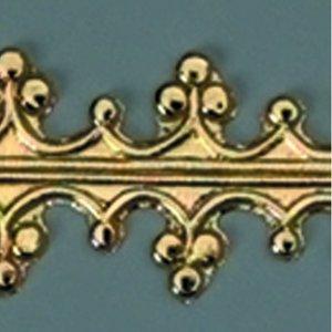 Billigtpyssel.se | Vaxdekoration bård 240 x 15 mm - guld briljant Kunglig trim
