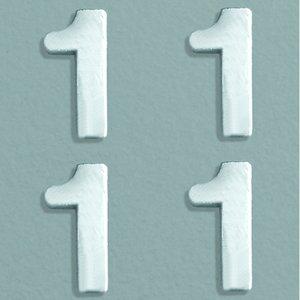 Billigtpyssel.se | Vaxdekoration nummer 8 mm - silver briljant 4 st. 1