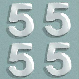 Billigtpyssel.se | Vaxdekoration nummer 8 mm - silver briljant 4 st. 5