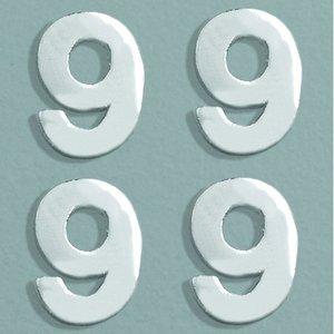 Billigtpyssel.se   Vaxdekoration nummer 8 mm - silver briljant 4 st. 9