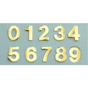 Billigtpyssel.se | Vaxdekoration nummer blandning 8 mm - guld briljant 0-9