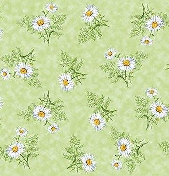 Billigtpyssel.se   Vaxduk Blommor - Grön