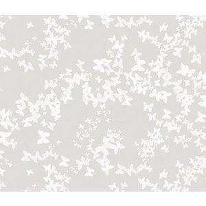 Billigtpyssel.se | Vaxduk Fjärilar - Naturvit