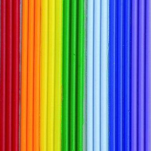 Billigtpyssel.se | Vaxremsor 200 x 2 mm - regnbågsfärg 7 x 3 band