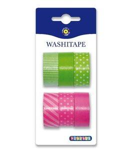 Billigtpyssel.se | Washitape 6-pack grön rosa