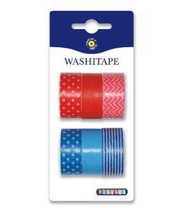 Billigtpyssel.se | Washitape 6-pack röd & blå