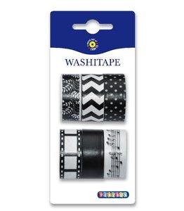 Billigtpyssel.se | Washitape 6-pack svart