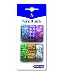 Billigtpyssel.se | Washitape Glitter 6-pack