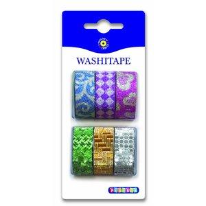Billigtpyssel.se   Washitape Glitter 6-pack