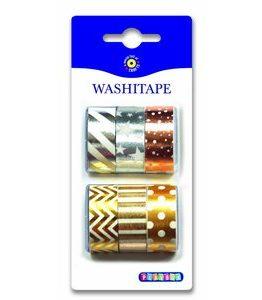 Billigtpyssel.se | Washitape Metall 6-pack