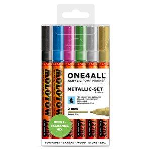 Akrylmarker One4All 2mm 6 Pennor -Metallic