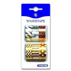 Washitape Metall 6-pack