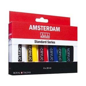 Akrylfärgsset Amsterdam 20 ml - 6 tuber