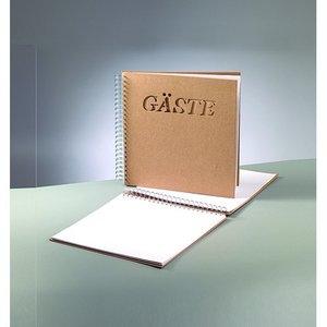 Album för scrapbooking 30 x 30 cm - brun 25 sidor gäst