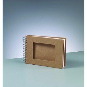 Album för scrapbooking A 5 / 21 x 15 cm - brun 25 sidor cutout rektangel