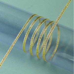Band lurex 3 mm - 100 meter - guld