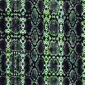 Mönstrad Trikå 150 cm - Orm Grön