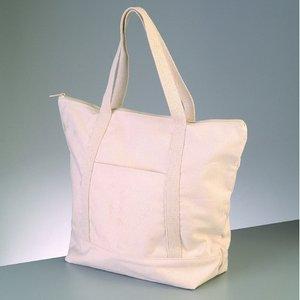 Bomullsartiklar 43 x 34 cm - naturlig bomull 350g / m² väska med dragkedja