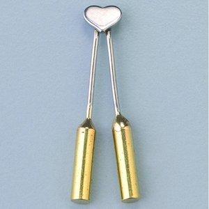 Brännmärkningsöglor hjärta - 1 st. spetsig / för 1840002 +1840003