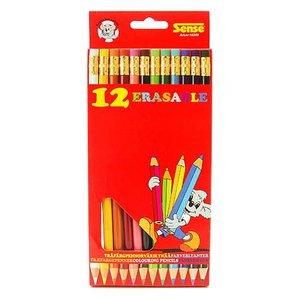 Färgpennor med Sudd Sense - 12 pennor