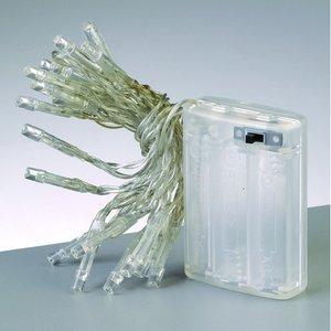 Ljusslinga LED 120 cm - transparent silver 20 lampor varmt ljus batteri