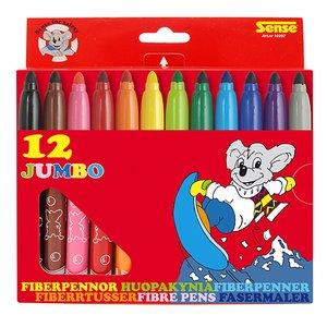 Fiberpennor Jumbo Sense - 12 pennor