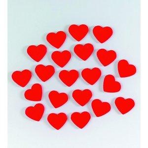Dekor trä 15 mm - röda 24 st. Hjärta