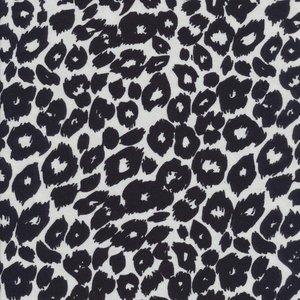 Djurmönstrad trikå - Leopard svart/vit - 160 cm