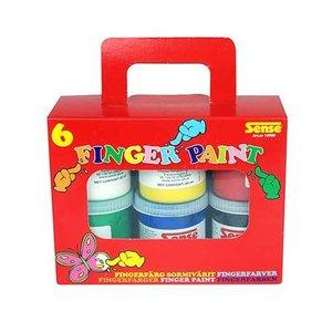 Fingerfärg Sense - 6 färger