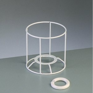 Lampstomme ram 10 cm / ø 10 cm - vit rund
