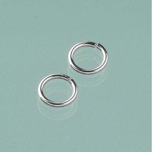 Ringögla ø 10 mm - silverfärgad 10-pack runda