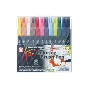 Koi Color Penselpenna - 12 pennor