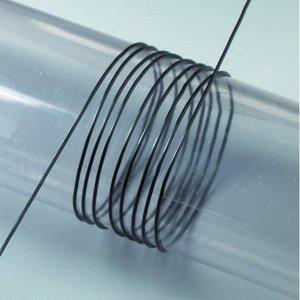 Elastisk tråd 1 mm - svart 5 m