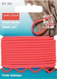 Elastiskt snöre 2.5mm röd 3m